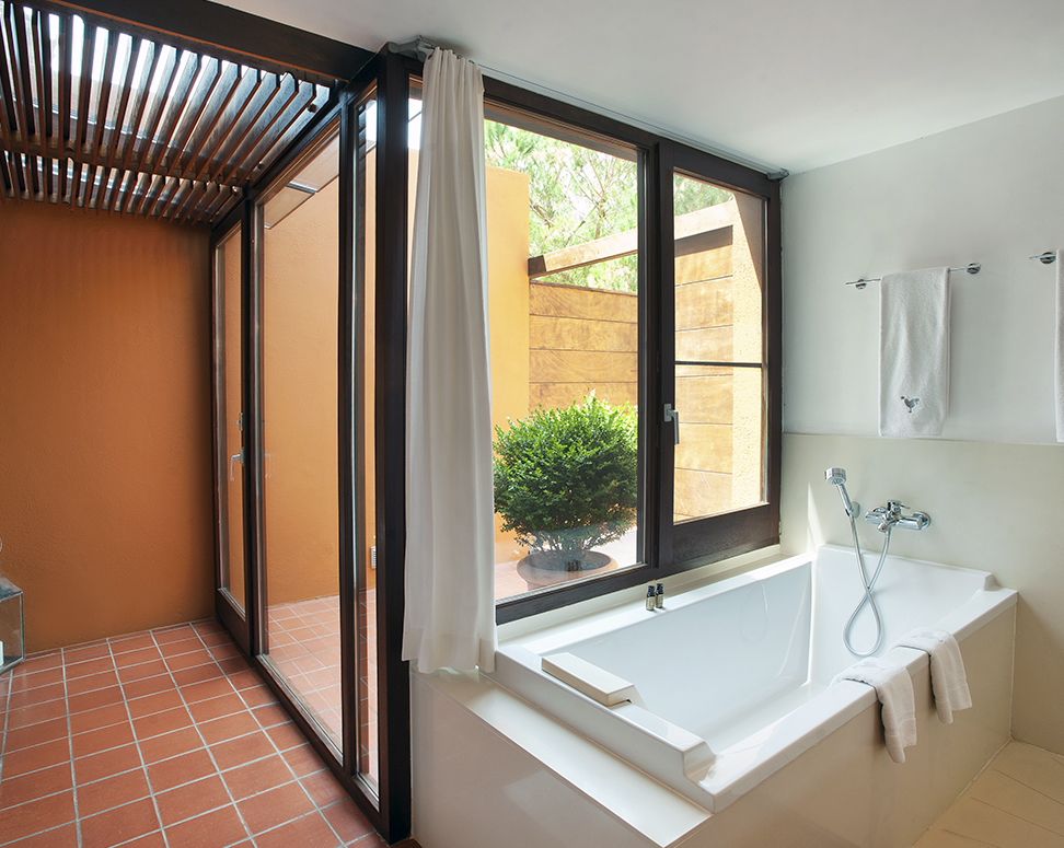 Full bathroom, with separate bathtub and shower
